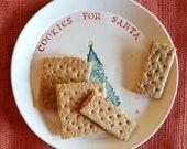 Cookies for Santa Plate, Christmas Dish, Christmas Gift