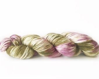 """Superwash Merino Yarn . DK . hand dyed . 240 yards . 100 g . Wild Lilac Moon's Solstice in color """"Prism"""""""