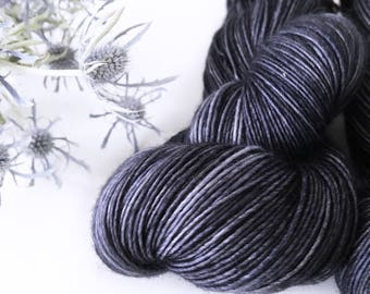 Superwash Merino Yarn . Fingering . 400 yards . 100 g . Kettle Dyed . Wild Lilac Moon's Moonlight in Colorway Abyssinian