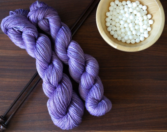 Variegated AG2N Hand Dyed Yarn Tonal Violet A Guy Two Needles Colorway Tonal or Multi Tonal
