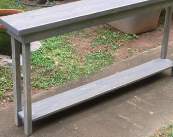 Narrow sofa table | Etsy