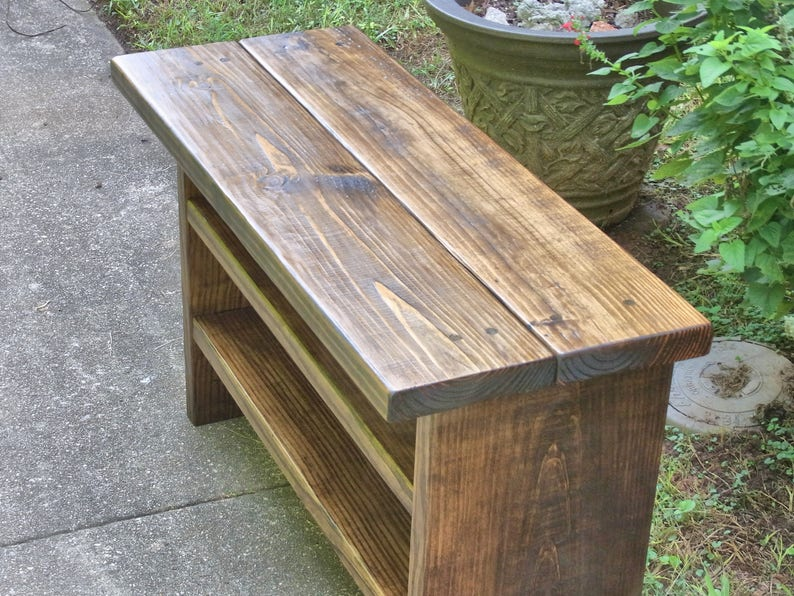 Phenomenal 36 Inch Long Tall Rustic Bench Entryway Hallway Mudroom Storage Bench Shoe Bench Dailytribune Chair Design For Home Dailytribuneorg