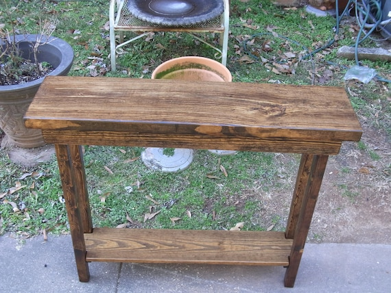 36 Inch Rustic Console Table Extra Narrow Sofa Table Entryway Hallway Foyer  Table with Shelf