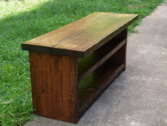 42 Inch Rustic Bench Entryway Hallway Mudroom Storage Bench Etsy