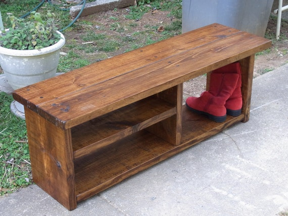 Excellent 46 Inch Boot Cubby Rustic Bench Shoe Bench Entryway Hallway Mudroom Storage Bench Ocoug Best Dining Table And Chair Ideas Images Ocougorg