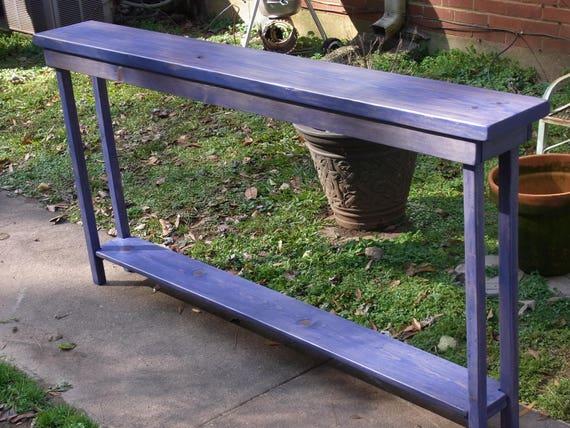 72 Inch Rustic Console Table Extra Narrow Sofa Table Entryway Etsy