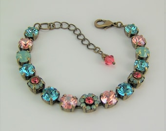 Swarovski Chaton Bracelet, Cup Chain Bracelet, Tennis Bracelet, Opal Bracelet, Mariana Bracelet,Chaton Bracelet,Flower Bracelet,Padparadscha