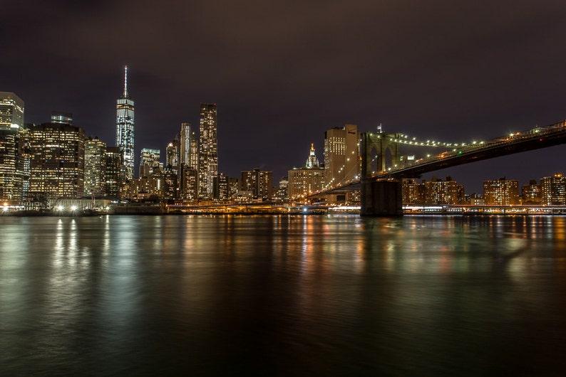 New York City Skyline Nyc Night Photography New York Etsy