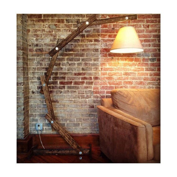 Floor Lamp Arc Wooden Floor Lamps Modern Lighting Arc Etsy