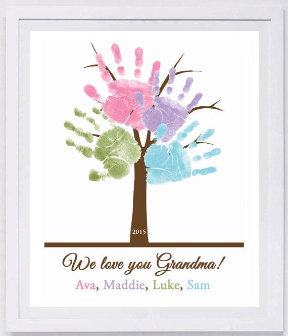 Family Tree Handprint Wall Art 801_pap | Etsy