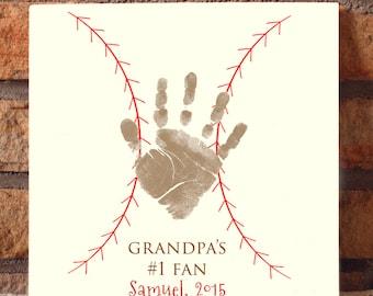 Baseball Handprint Plaque 201_plaque