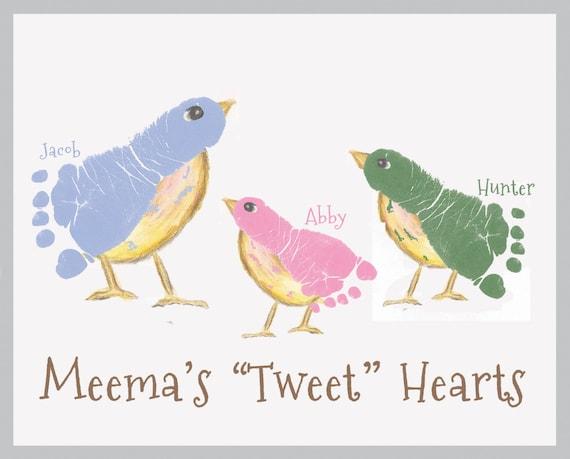 Bird Footprint Wall Art_412_paper. Mother's Day