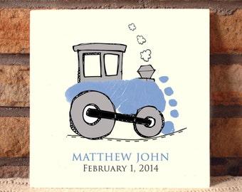 Train Footprint Plaque 101_plaque