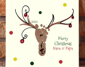 Reindeer Footprint Plaque 306B_Plq
