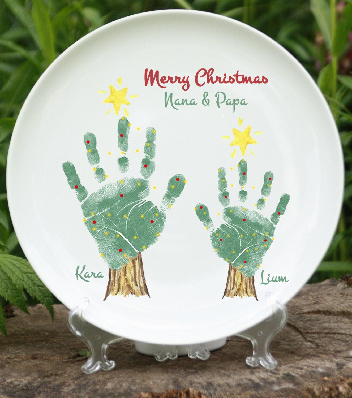 Christmas Tree Handprint Plate 302b Plt Hand And Footprint