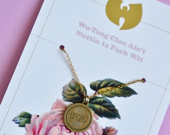 Protect Ya Neck - Wu Tang Clan inspired antique gold necklace