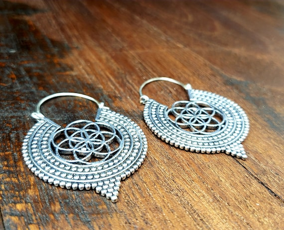 Silver Flower of Life Seed of Life Sacred Geometry