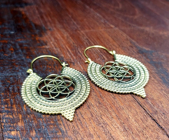 Gold Flower of Life Seed of Life Sacred Geometry E