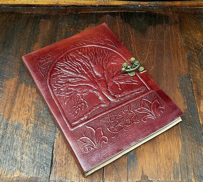 Tree of Life Leather Journal Notebook image 0