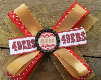 stacked 49er hair bow