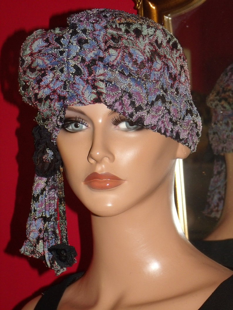 Turban Flapper Hat Cloche 20/'s Theme Personalized Lace Antique style   Headdress  FREE SHIPPING USA