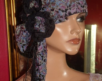 Flapper Hat Cloche  1920 style Personalized Lace Antique style  Church Headdress