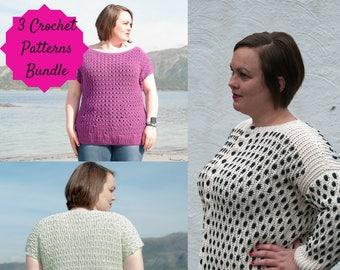Aran Cotton Women's Bundle – Easy – Intermediate Crochet Patterns