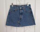 Vintage 1990 39 s Levis Medium Wash Denim Mini Skirt