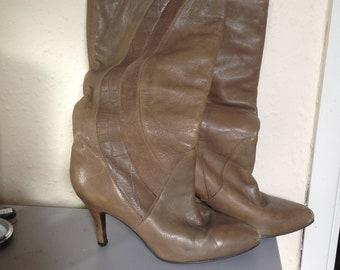 37d61da35a7 Women's Slouch Boots | Etsy UK