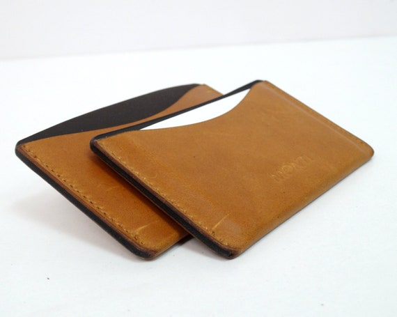Business Card Case Leather Case For Business Cards And Credit Cards Credit Card Case Handcraft Business Card Etuis Handmade Mainz