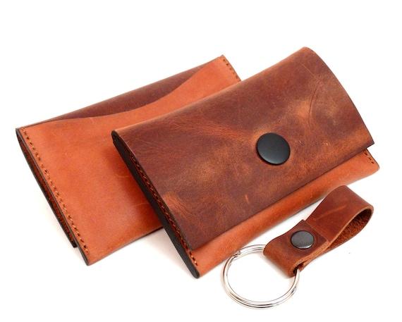 Mini Leder Portemonnaie Damen Visitenkartenetui Leder Etui Für Visitenkarten Und Kreditkarten Leder Geldbeutel Geldbörse Handmade