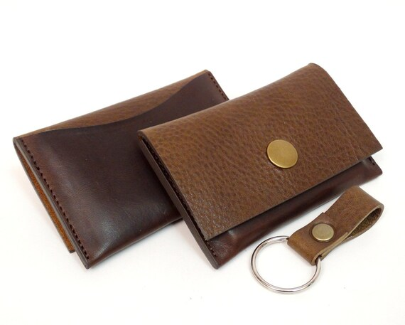 Card Work Business Card Holder Leather Case For Business Cards And Credit Cards Brown