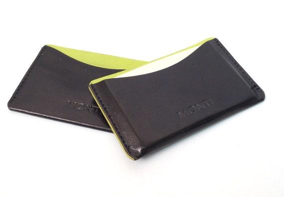 Kartenwerk Visitenkartenetui Leder Etui Für Visitenkarten Und Kreditkarten Gelb Schwarz
