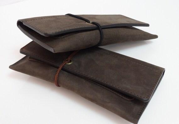 Leder Tabaktasche Tabakbeutel Tobacco Pouch Leather Leder Täschchen Handytasche Brieftasche