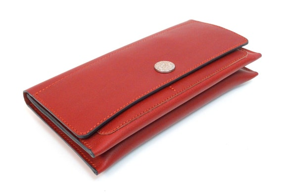 Portemonnaie Damen Geldbeutel Leder Geldbörse Brieftasche Frauen Geldbörse Rot Damen Geld Beutel Handgefertigt Börse Leather Purse Women