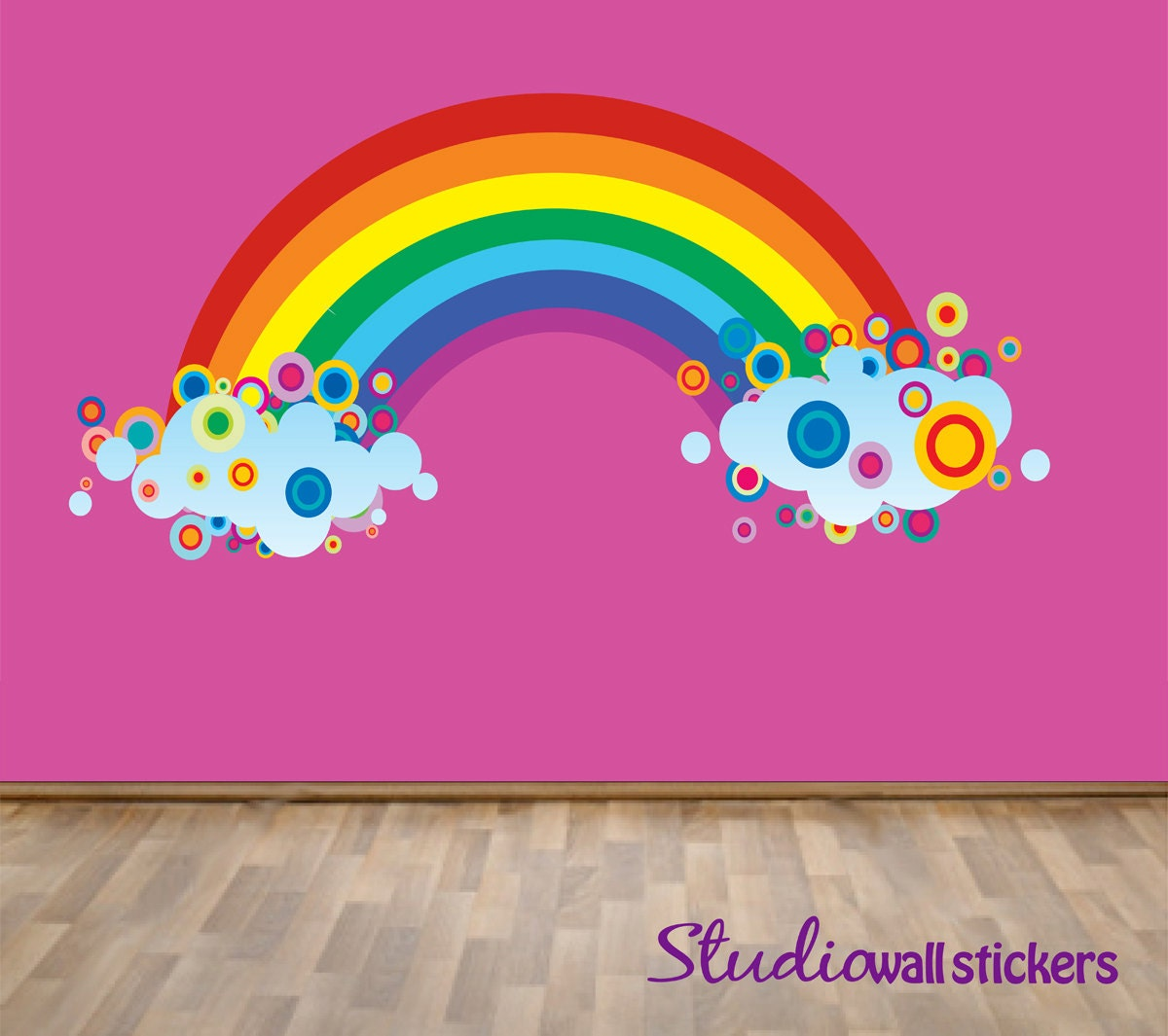 Reusable Rainbow Wall Decal Childrens Fabric Wall Decal Etsy