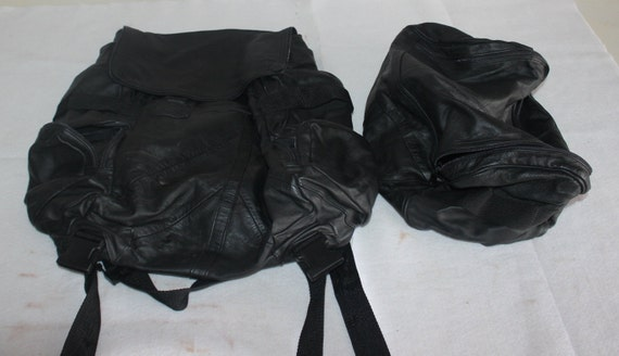 Leather Motorcycle Bag Set