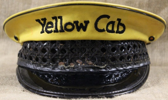 "Rare 1940's American Embroidered ""Yellow Cab"" Lanc"