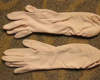 Vintage Women's Pink Gloves