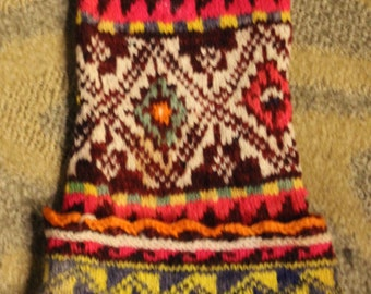 Vintage South American Hand Woven Hat/ Beanie