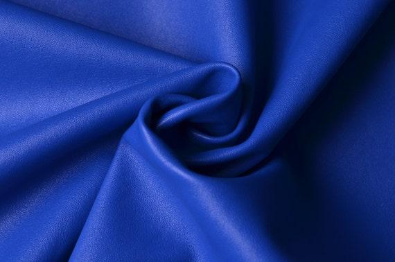 Half Yard Royal Blue Lamb Skin Faux Leather Fabricsoft Pu Etsy