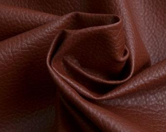 Half Yard Chocolate Brown Big Lichee Skin Leather Fabric,Fake Big Lichee Soft Leather Upholstery Fabric,Making Bags,Soft Purses Fabric(#23)