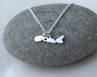 SALE - Nova Scotia Stainless Steel Necklace, Province jewelry, Canada Day Gift, Gift For Her, Under 20, C1