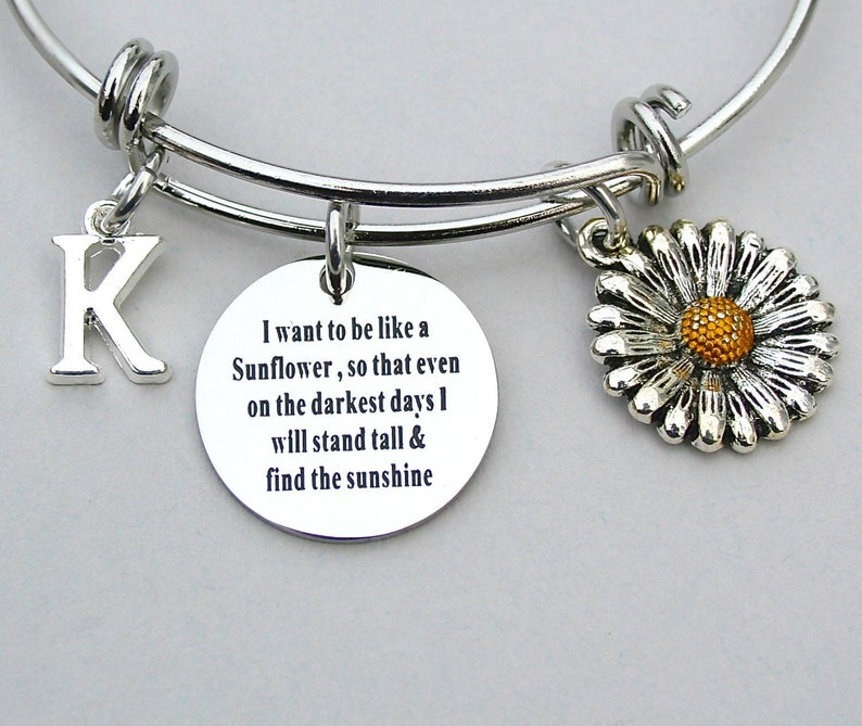SunFlower Bangle I Want To Be Like A Sunflower So That image 0