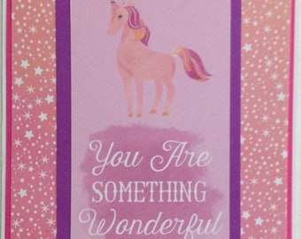 Inspirational Card - Just Because Card - Motivational Card - Friend Card - Encouragement Card - Anytime Card - Something Wonderful Card