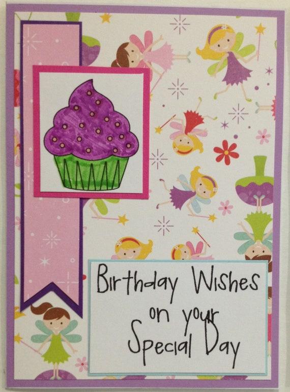 Birthday Card For Little Girl Fairy Birthday Card Little Etsy