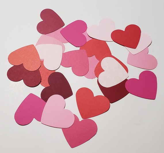 50 Piece Multi Size Cardstock Paper Heart Cut Out Pack die cuts