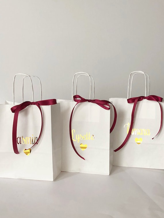 Bridesmaids Gift Bags Christmas Gift Bags Personalised Gift Bagsparty Bags Bridal Party Gift Party Decor Wedding Gift Bags