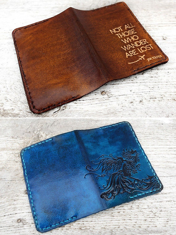 Leather Passport Cover Patterns 26 Page Pdf Design Your Own Etsy
