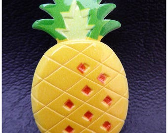 Cabochon pineapple fruit x 1